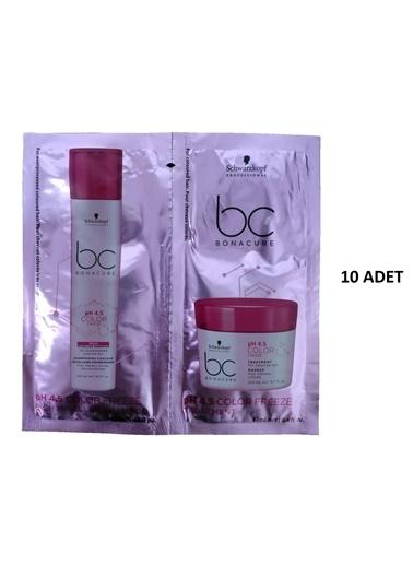 Bonacure Schwarzkopf Bonacure 4.5 pH Color Freeze Rich Şampuan 12mlMaske 12ml 10 Adet Renksiz